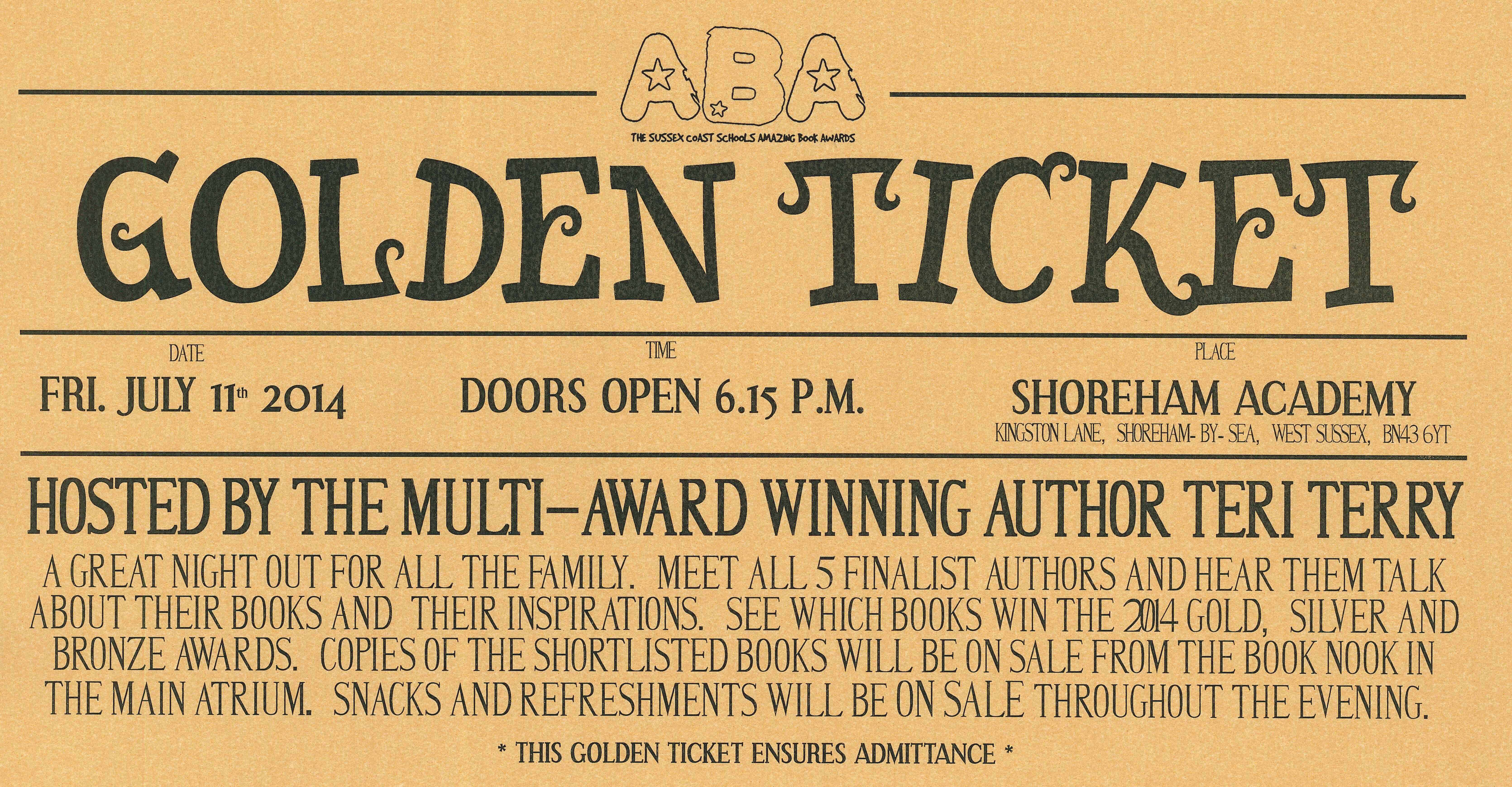 ABA Golden Ticket